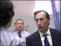 Chris Langham as Hugh Abbot MP in the BBC's The Thick of It