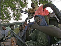 Fighters of the Sudan Liberation Army/Movement (SLA/M) Minni Minawi faction. File photo