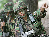 Soldiers participating in the Ulchi Focus Lens exercises in 2006