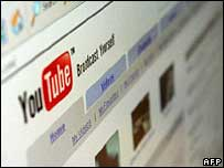 YouTube homepage, AFP/Getty