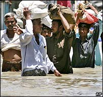 Flood victims in Dhaka