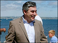 Gordon Brown on holiday