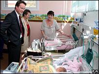 David Cameron at Horton General Hospital
