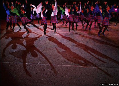 The Massed Commonwealth Highland Dancers