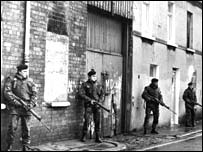 Troops regularly supported police operations from 1969 onwards