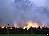 Foot and mouth pyre from 2001