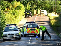 Police cordon in Surrey