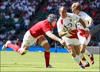 Shaun Perry breaks for England