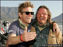 Ewan McGregor and Charley Boorman in Cape Town