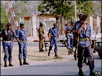 Burundi soldiers in Bujumbura - file photo 1996