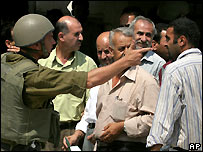 An Israeli checkpoint in the West Bank - 01/08/2007