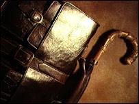 Civil servant's briefcase and umbrella