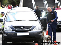 A car stopped and searched near Wembley Stadium, under Section 44 of the Terrorism Act
