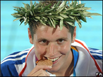 David Davies and his 2004 Olympic bronze medal