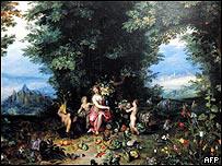 Alegoría de la tierra, de Jan Bruegel.