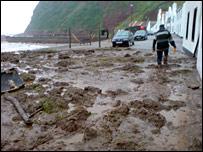 Pennan mudslide [Pic: Graeme Anderson]