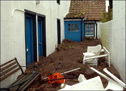 Pennan mudslides [Pic: Duncan Brown]