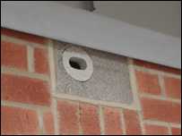 A brick adapted to be a Swift nest
