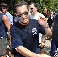 Nicolas Sarkozy in southern France, May 07