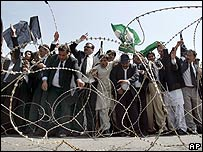 Protesting lawyers in Pakistan
