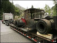 Mine equipment arrives to help in the rescue of six trapped miners in Utah
