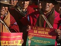Parte de la poblaci�n reclama que el Congreso se quede en La Paz