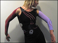 Garment with motion sensors