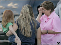relatives gather to await news of the Utah miners