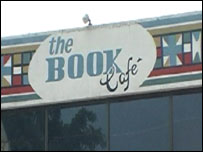 Book cafe sign