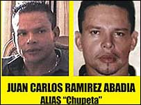 Police photos of Juan Carlos Ramirez Abadia