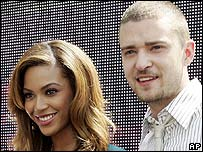 Beyonce and Justin Timberlake