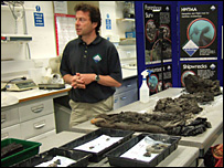 Garry Momber with some of the excavated artefacts