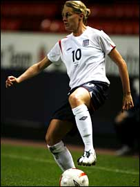 England and Arsenal striker Kelly Smith