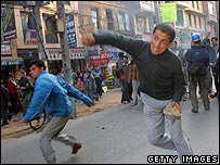 Pro-democracy protests in Nepal in 2006