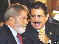 Lula y Manuel Zelaya.