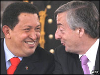 Hugo Chávez y Néstor Kirchner.