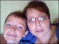 Michelle Aldridge and son George