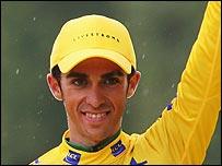 Tour de France winner Alberto Contador