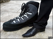 Leonid Stadnyk's size 64 shoes