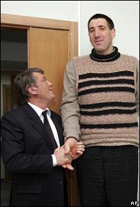 Леонид Стадник и президент Ющенко