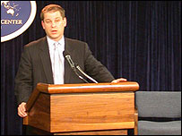 Sean McCormack, portavoz del Departamento de Estado de EE.UU.