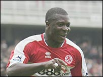 Middlesbrough striker Yakubu