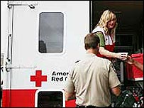 American Red Cross worker helping after the fatal bridge collapse in Minneapolis (Credit: American Red Cross)