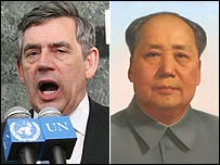 Gordon Brown and Chairman Mao