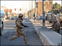 UK soldiers in Basra
