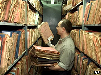 Stasi files in Berlin