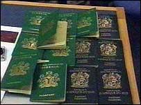 Forged Nigerian and British passports