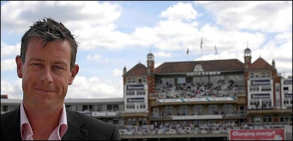 Giles at The Oval on Thursday, where he chose to announce his retirement