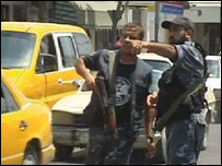 Policemen in Gaza