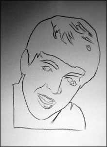 A drawing of Paul McCartney by Andy Warhol